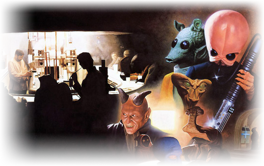Mos eisley cantina photo gallery for The menu moss eisley canape